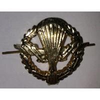 Эмблема петличная ВДВ с венком золото металл