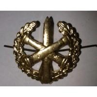 Эмблема петличная РВиА с венком золото металл