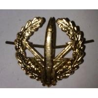 Эмблема петличная РВСН с венком золото металл