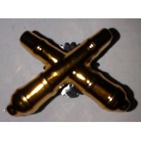 Эмблема петличная РВиА золото полиамид