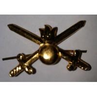 Эмблема петличная сухопутные войска без венка золото металл