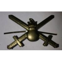 Эмблема петличная сухопутные войска без венка защита металл