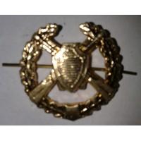 Эмблема петличная пограничные войска с венком золото металл