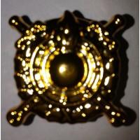 Эмблема петличная Внутренние войска МВД золото полиамид