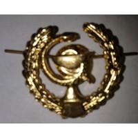 Эмблема петличная Медицинская служба с венком золото металл, правая, левая