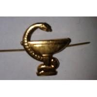 Эмблема петличная Медицинская служба без венка золото металл, правая левая