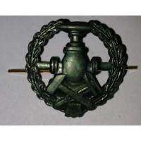 Эмблема петличная войска ГСМ с венком защита металл