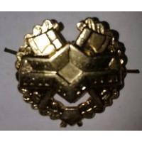 Эмблема петличная инженерные войска с венком золото металл