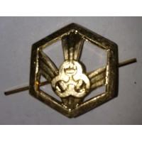 Эмблема петличная РХБЗ без венка золото металл