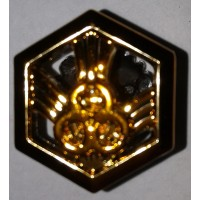 Эмблема петличная РХБЗ без венка золото полиамид