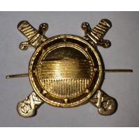 Эмблема петличная внутренняя служба МВД  без венка золото металл