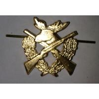 Эмблема петличная Егеря золото металл