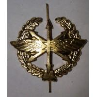 Эмблема петличная Связь с венком золото металл