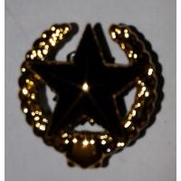 Эмблема петличная общевойсковая с венком золото полиамид