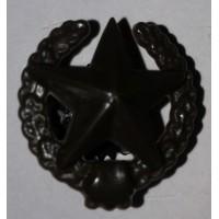 Эмблема петличная общевойсковая с венком защита полиамид