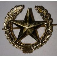 Эмблема петличная общевойсковая с венком золото металл