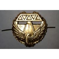 Эмблема петличная Дорожные войска с венком золото металл