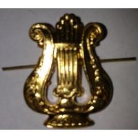 Эмблема петличная музыкальная  золото металл