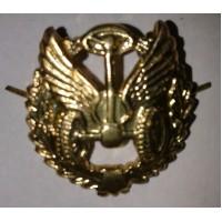 Эмблема петличная Автомобильные войска с венком золото металл