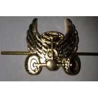 Эмблема петличная Автомобильные войска без венка золото металл