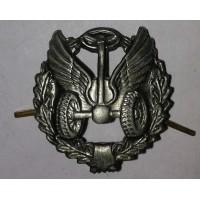 Эмблема петличная Автомобильные войска с венком защита металл