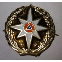 Эмблема петличная МЧС золото металл