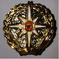 Эмблема петличная МЧС золото полиамид
