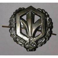 Эмблема петличная РХБЗ с венком защита металл