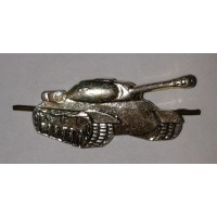 Эмблема петличная Танковые войска без венка золото металл, правая левая