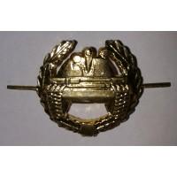 Эмблема петличная Танковые войска с венком золото металл