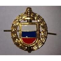 Эмблема петличная ФСО золото металл