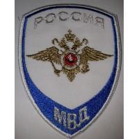 Шеврон на рубашку Следственные подразделения МВД РОССИИ белый вышитый