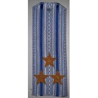 Погоны ВДВ вышитыми золотом звездами на рубашку полковник