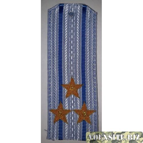 Погоны ВВС вышитыми золотом звездами на рубашку  полковник