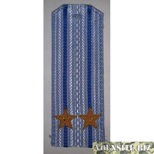 Погоны ВВС вышитыми золотом звездами на рубашку подполковник