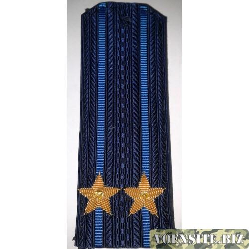 Погоны ВВС вышитыми золотом звездами подполковник
