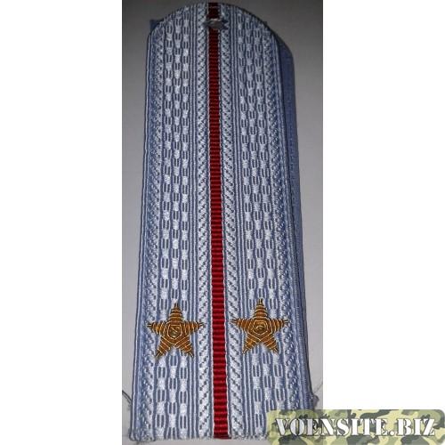 Погоны Полиции рубашка с вышитыми золотом  звездами лейтенант без канта