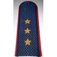 Погоны Полиции с вышитыми золотом звездами старший прапорщик