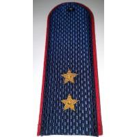 Погоны Полиции с вышитыми золотом звездами прапорщика
