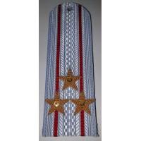 Погоны Полиции рубашка с вышитыми золотом звездами полковник без канта
