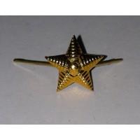 Звезда 13 мм металл золото рифленая