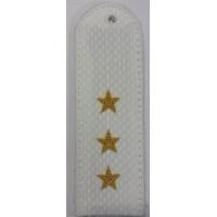 Погоны Полиции парадые на рубашку с вышитыми золотом звездами старшего прапорщика