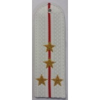 Погоны Полиции парадые на рубашку с вышитыми золотом звездами капитана