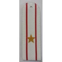 Погоны Полиции парадые на рубашку с вышитыми золотом звездами майора