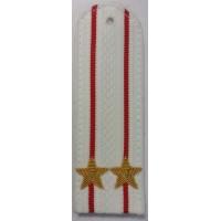 Погоны Полиции парадые на рубашку с вышитыми золотом звездами подполковника
