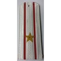 Погоны ВС парадные белые с вышитыми золотом звездами майор