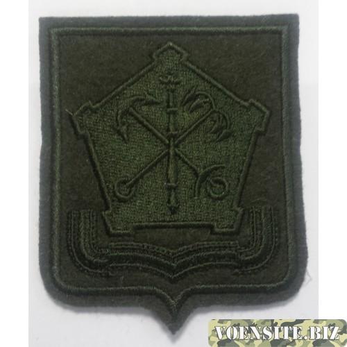 Шеврон Западного Военного округа оливковый вышитый