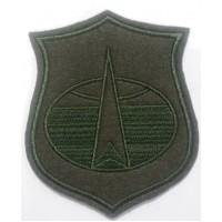 Шеврон органов военного управления ВКО оливковый вышитый