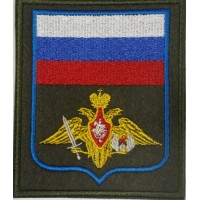 Шеврон Орел с флагом вышитый принадлежности к ВДВ прямоугольный