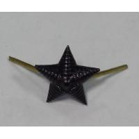 Звезда 13 мм металл иссиня-черная рифленая